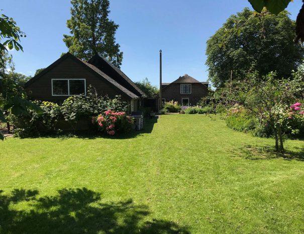 Back garden of the Dutch Farmhouse