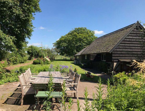 Uitzicht uit de slaapkamer van The Dutch Farmhouse